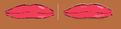 outer lip contours