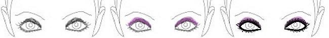 wide set smokey eyes