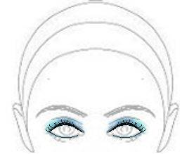 Then apply eyeliner in a similar shape, with the thickest part being in the middle. This will keep your eyes round, while still taking emphasis away from ...